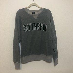 Harry Potter Slytherin house gray crewneck sweater